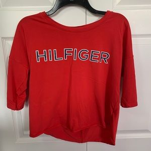 Tommy Hilfiger Red Sports Top size: S